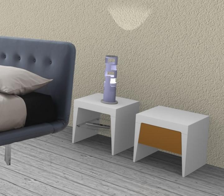 Coppia comodini lm l40 cm colorazione personalizzata ral - Comodini in vetro camera da letto ...