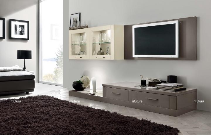 Mobile soggiorno moderno vetrina pannello porta tv af - Mobile vetrina moderno ...