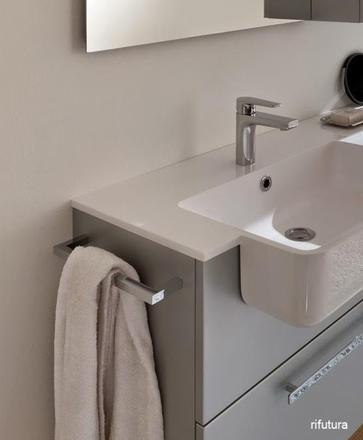 Porta asciaugamani per fianco mobile bagno nc accessori for Accessori x il bagno