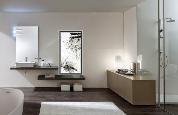 Mobile bagno moderno minimal nc best 04 mensolone sospeso for Mobile bagno minimal