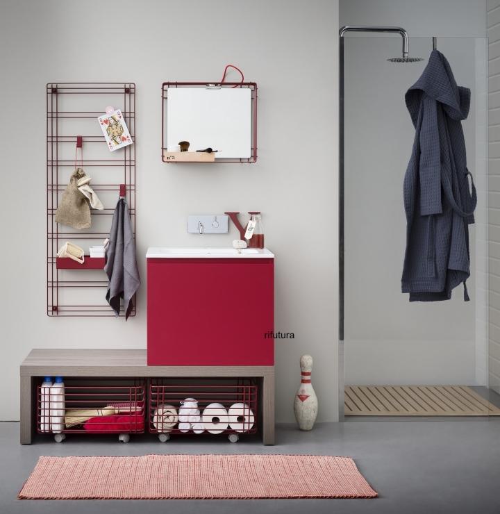 Mobile bagno moderno lavanderia cesti porta biancheria bx - Mobile portabiancheria sporca ...