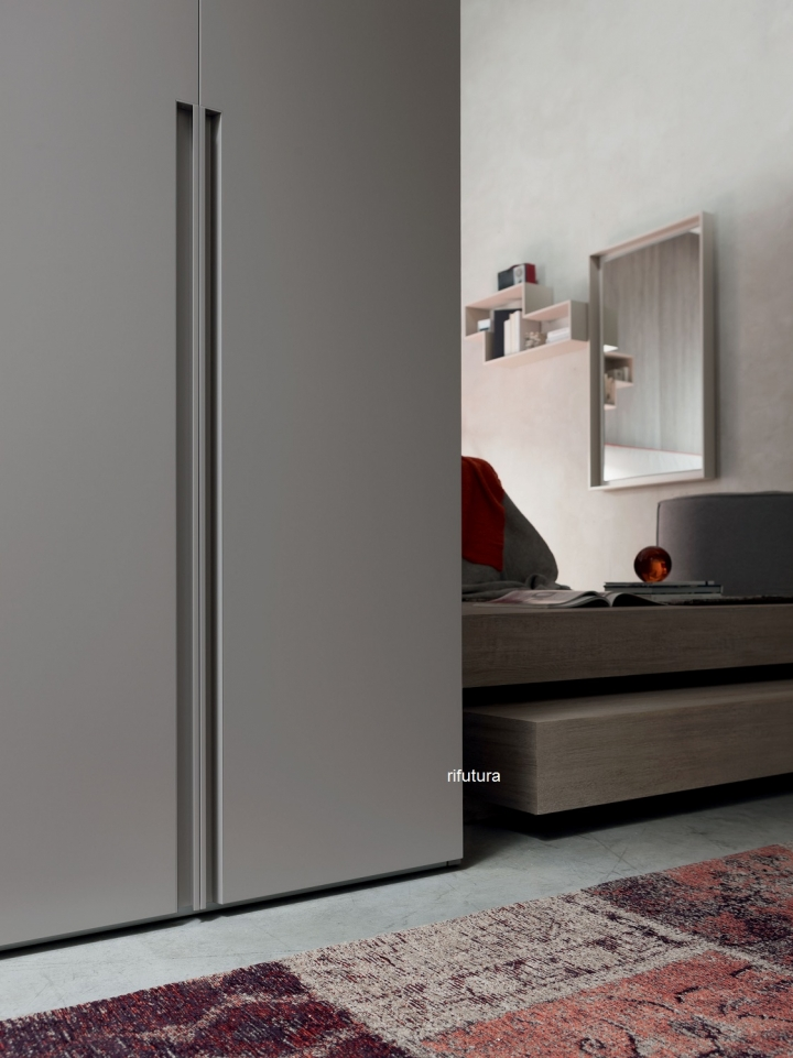 ARMADIO MODERNO 6 ANTE AF-STEP MID 286 cm LACCATO OPACO ...