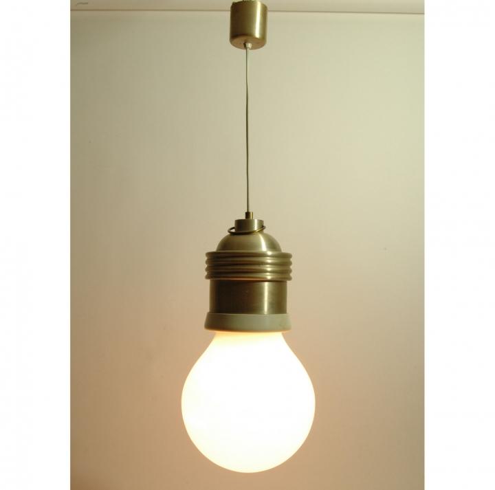 Vintage lampadario sospensione lampadina Gigante vetro ...