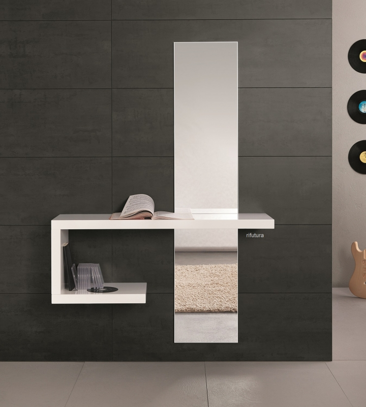 Librerie Di Design : Ingresso moderno mt f consolle e specchio cm