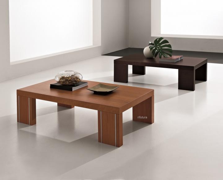 Tavolino salotto moderno basso mt t11 t14 ciliegio weng for Poltrone a basso costo