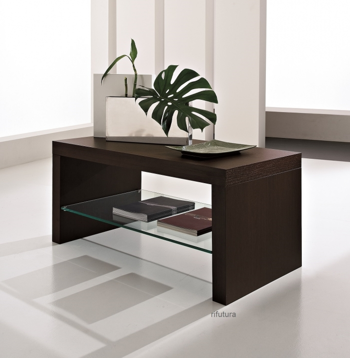 Tavolino salotto moderno mt mario con ripiano in vetro for Tavolino salotto moderno amazon