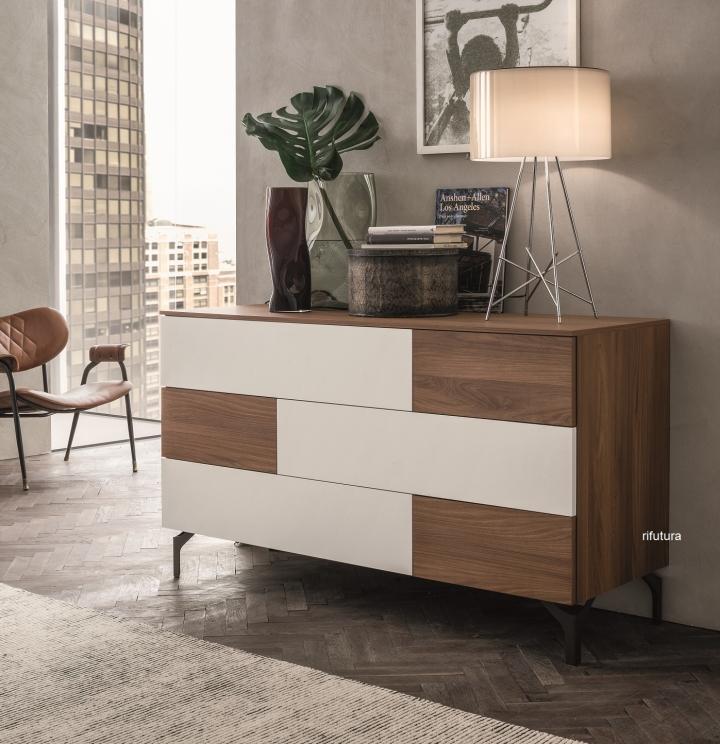 Cassettiera camera da letto moderna 138 cm sl pj sistema - Cassettiere camera letto ...