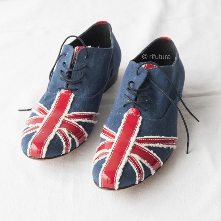 big sale fb25b d1dba Scarpe Uomo MOSCHINO n43 Bandiera Union Jack Britain Rock ...