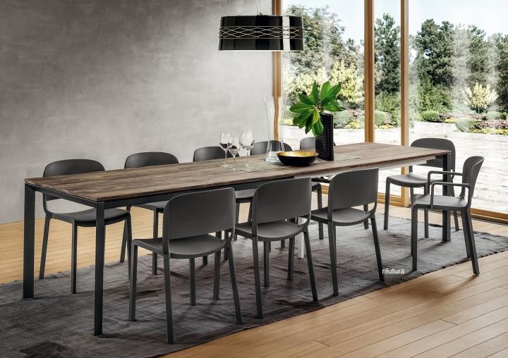 Tavolo Moderno Super Allungabile Pr Mauro Super 138 312 O 160 334 Cm