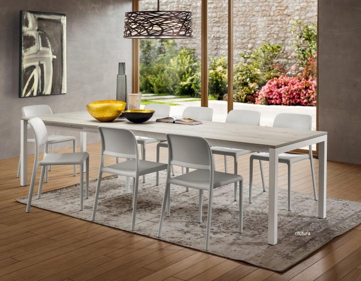 Tavolo moderno super allungabile PR-LUIGI SUPER 138>312 o ...