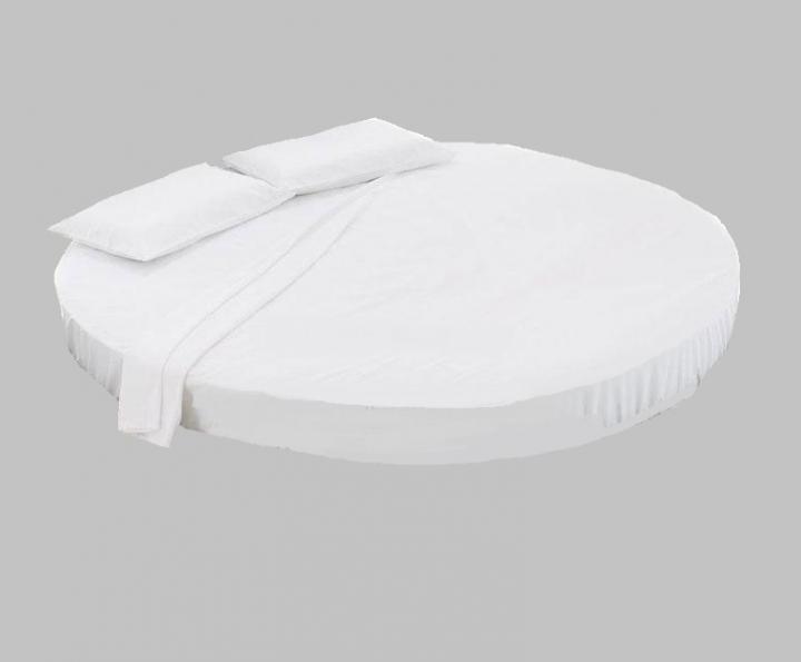 Set lenzuola in FLANELLA per letto rotondo (sopra, sotto, federe ...