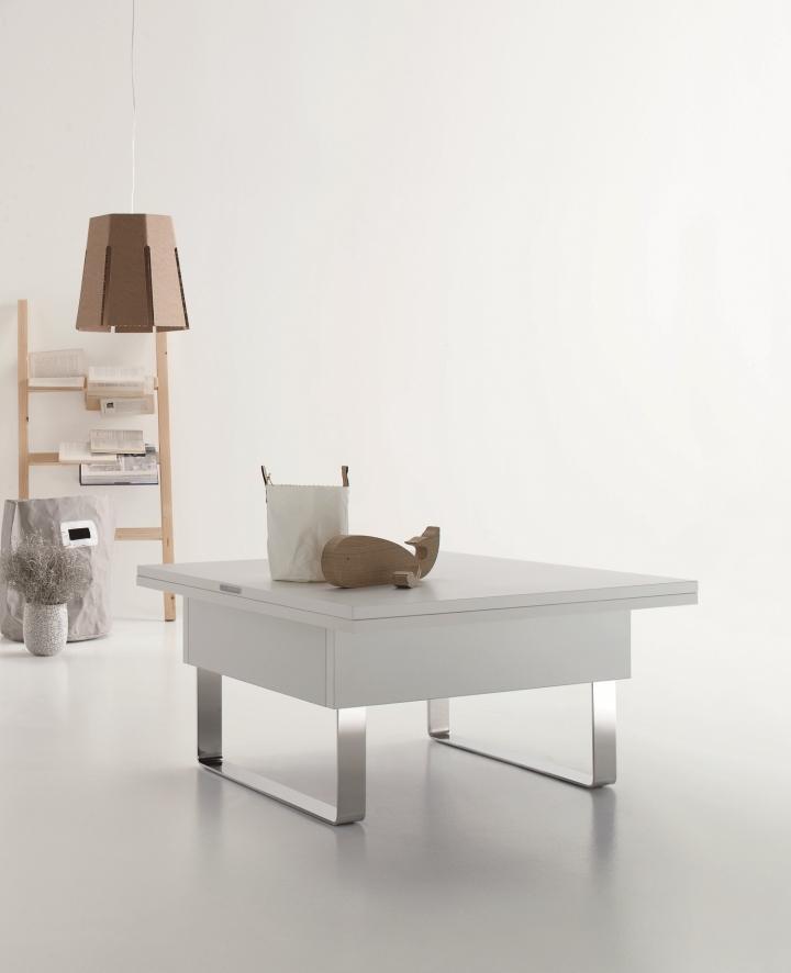 Tavolino salotto tavolo sd piccolo mini appartamento salvaspazio trasformabile ebay - Tovaglia per tavolo salotto ...