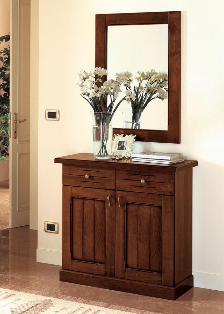Ingresso classico noce 90 cm pr varenne art 311 mobile e specchio for Mobili classici per ingresso