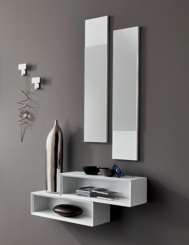 Mobile ingresso entrata moderna minimale pr lego 604 specchio mensole consolle ebay - Mobili ingresso moderni con appendiabiti ...