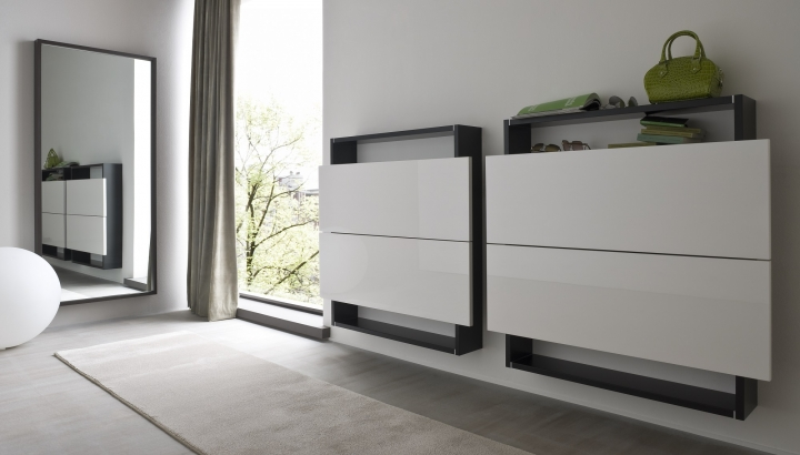 scarpiera sospesa bx hosoi 106 per 6 paia di scarpe by birex. Black Bedroom Furniture Sets. Home Design Ideas