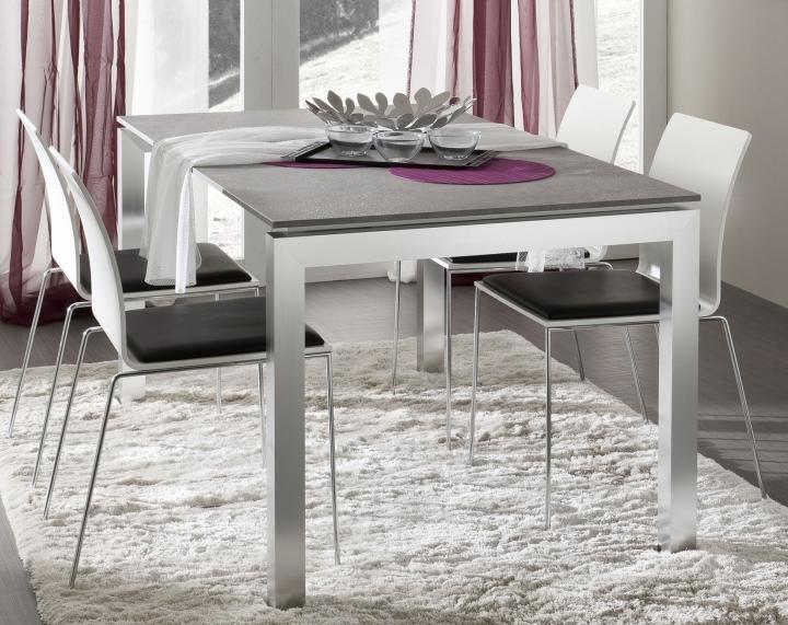 Tavolo da pranzo soggiorno cucina pr luca piano laminato hpl gambe metallo ebay - Hpl piano cucina ...