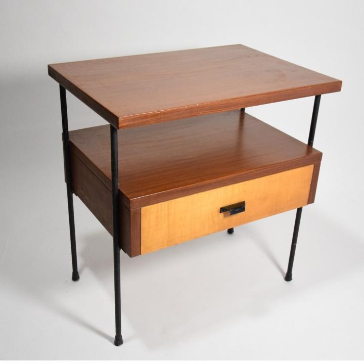 Mobiletto svedese design anni 50 legno noce betulla ferro for Mobiletto design