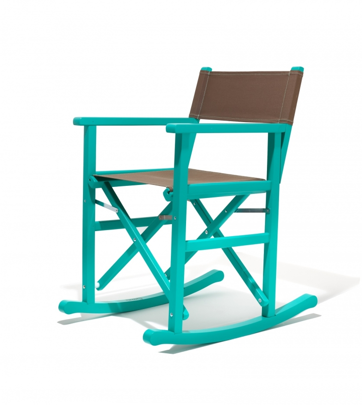Sedia a dondolo pieghevole swing made in italy colori regista for Sedia a dondolo verde