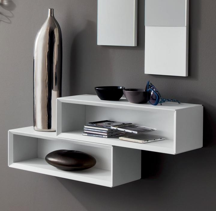 Mensole elementi a giorno design moderno pr lego ingresso - Mensole bagno design ...
