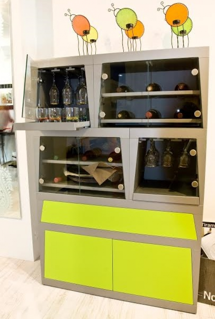 Mobile bar moderno lm wine bar bottiglie vino sold out - Mobile porta liquori moderno ...