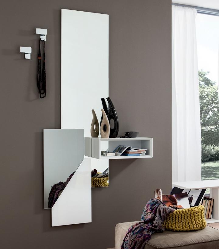 Ingresso moderno specchio e mensola pr lego art 600 601 - Attaccapanni con specchio ...