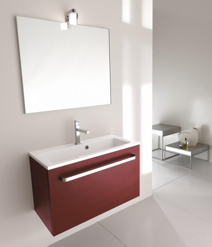 mobile bagno moderno pt-i40/06 profondità 40 cm l80/100 cm - Arredo Bagno Profondità 40 Cm