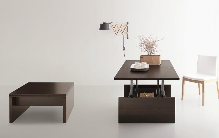Tavolino salotto trasformabile in tavolo sd kubo 80x80 160 - Tavolino salotto trasformabile tavolo pranzo ...