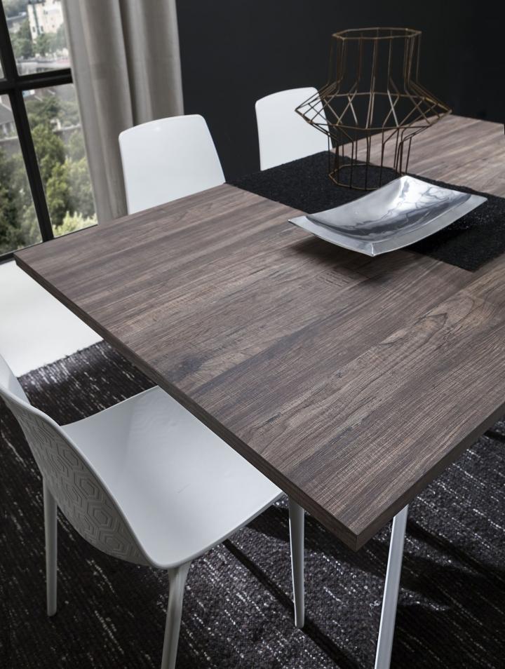 Tavolo da soggiorno pr renzo fisso 170 x 100 cm hpl noce for Tavolo hpl