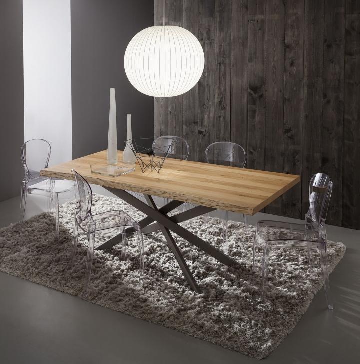 Tavolo pr renzo piano legno scortecciato 170x100 e 200x100 cm for Sala da pranzo kartell